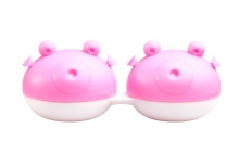 Lens Case - Pink Pufferfish